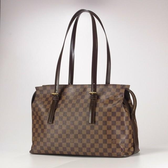 廃盤希少 フランス製 Louis Vuitton ルイヴィトン Damier ダミエ Ebene エベヌ Chelsea チェルシー N51119 ショルダーバッグ