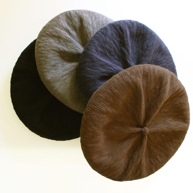 ISLAND KNIT WORKS (アイランドニットワークス) De La-L 綿リネンタック入りベレー帽  メンズレディース兼用