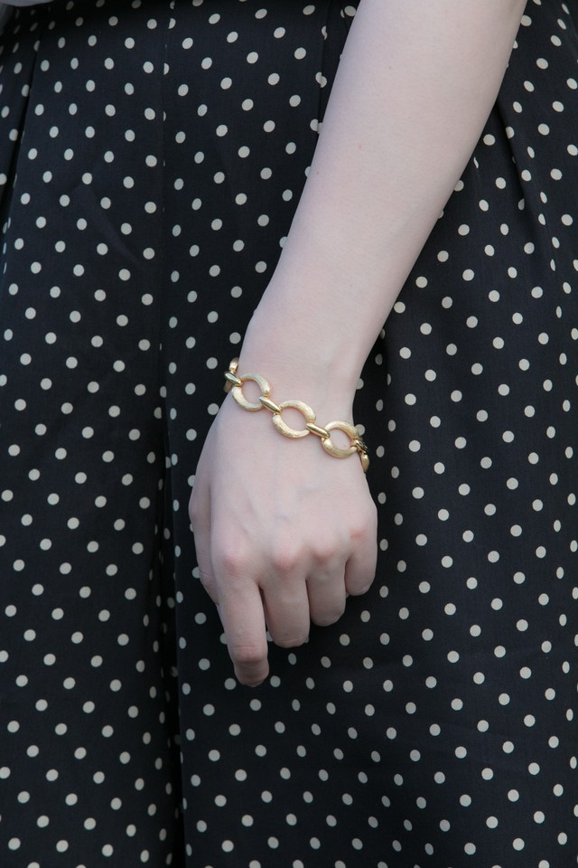 【Run Rabbit Run Vintage 】Gold circle bracelet