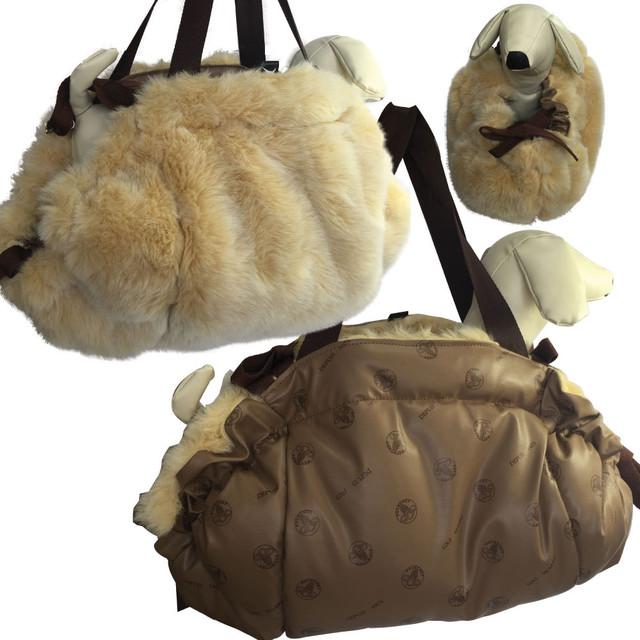 8。Petit Bijou 【正規輸入】犬 猫 カバン バッグ ベージュ 秋 冬物 S