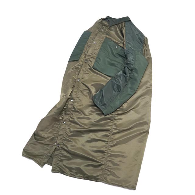 nylon long coat 2tone