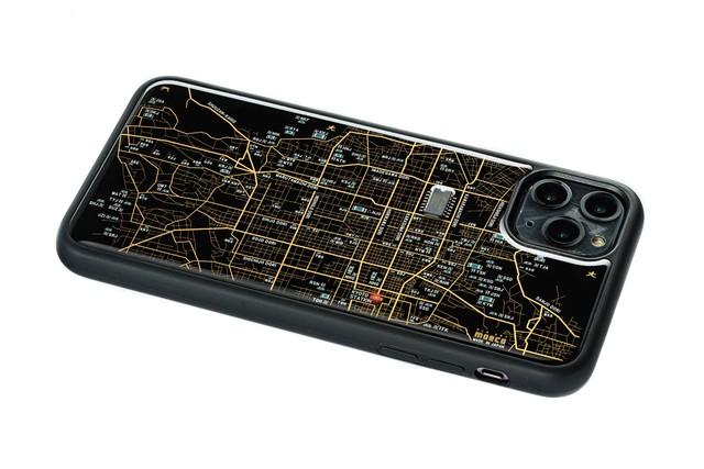 FLASH 京都回路地図 iPhone 11 ProMax ケース  黒【東京回路線図A5クリアファイルをプレゼント】