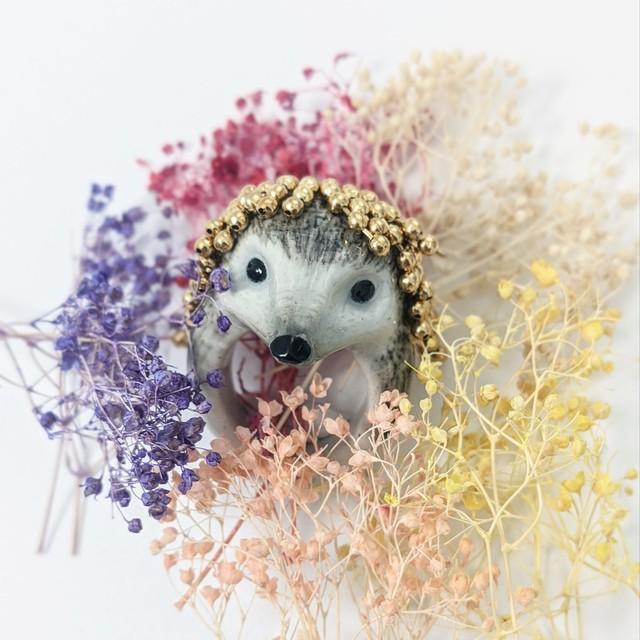 【Nach】 Hedgehog ring