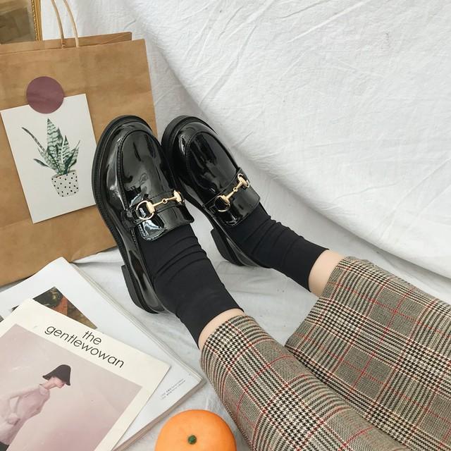 レディース革靴 2種 エナメル 艶消し カジュアルシューズ SHS241408