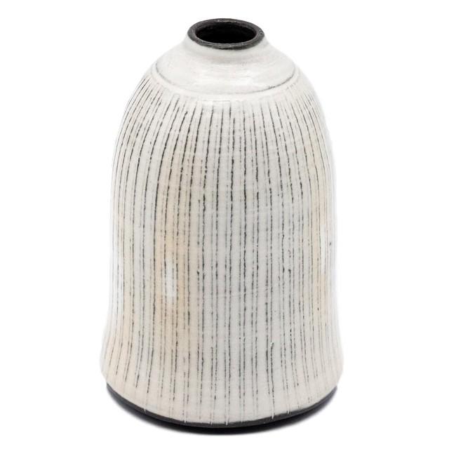 京焼 清水焼 関陶房 一輪挿し 花瓶 小 高さ約10cm京わび白十草 246242