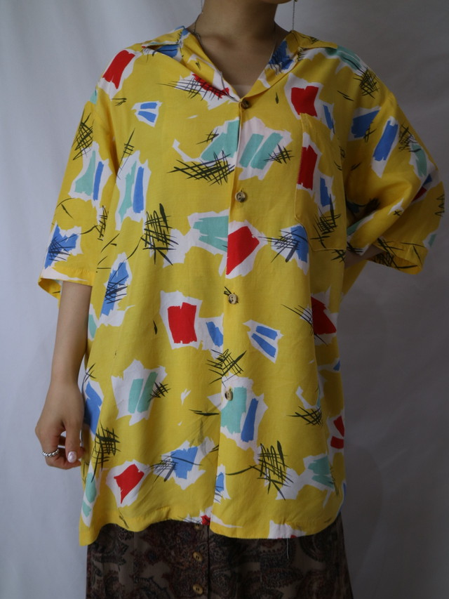 all pattern s/s shirt 【1008】