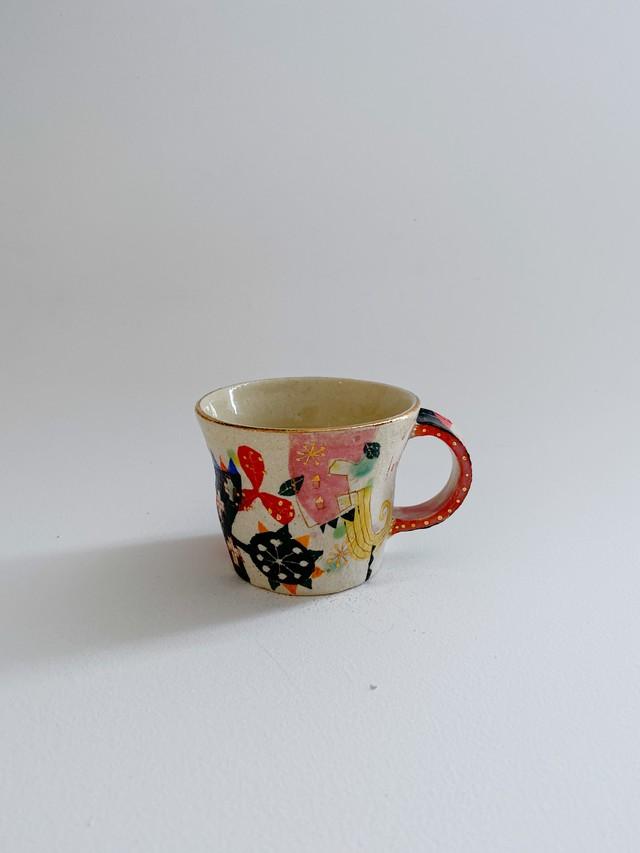 ウエダキヨアキ 白土金彩マグカップ小 67