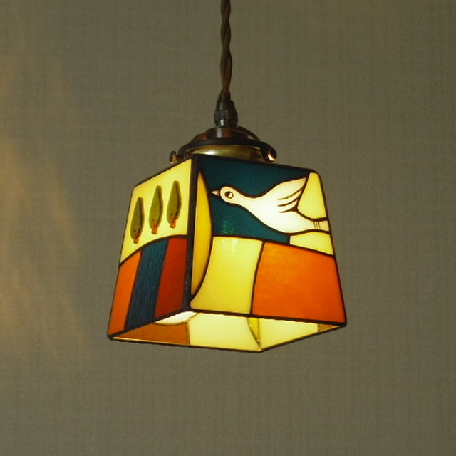 ペンダントランプ「 小さな旅する鳥 4」