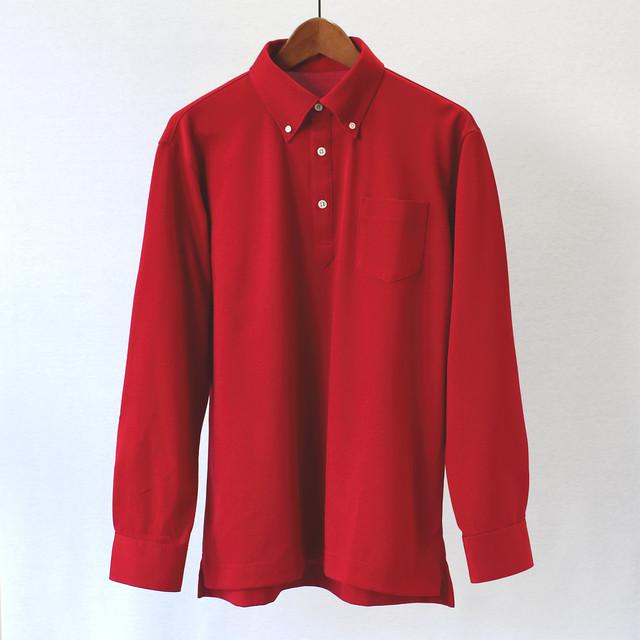 32/双糸 表鹿の子 長袖ポロシャツ