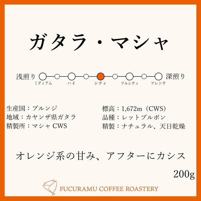 ブルンジ ガタラ・マシャCWS【シティ】200g