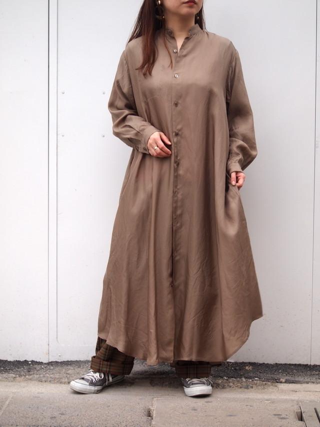 cupro long shirt one-piece