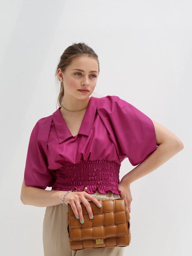 ready for summer blouse(bougainvillaea)