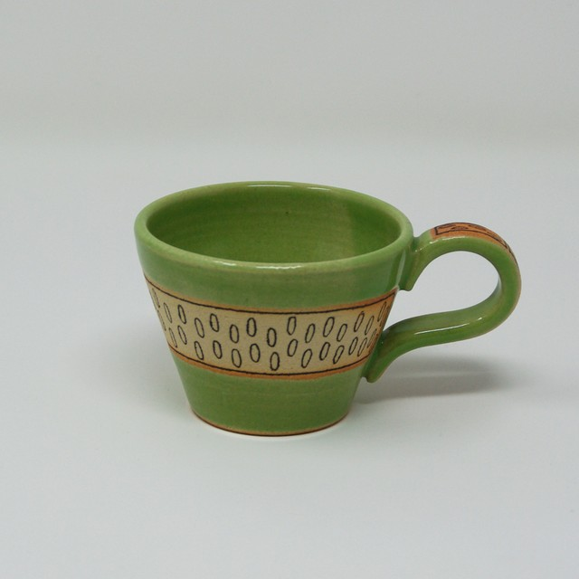 双子堂 カラフルマグカップ グリーン やちむん