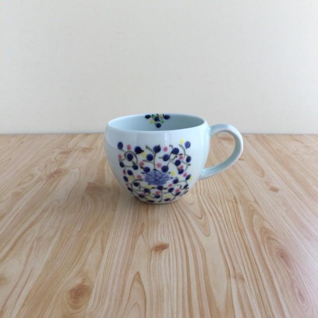 【有田焼】染錦色絵短冊唐花 スープカップ(P)【在庫限り】