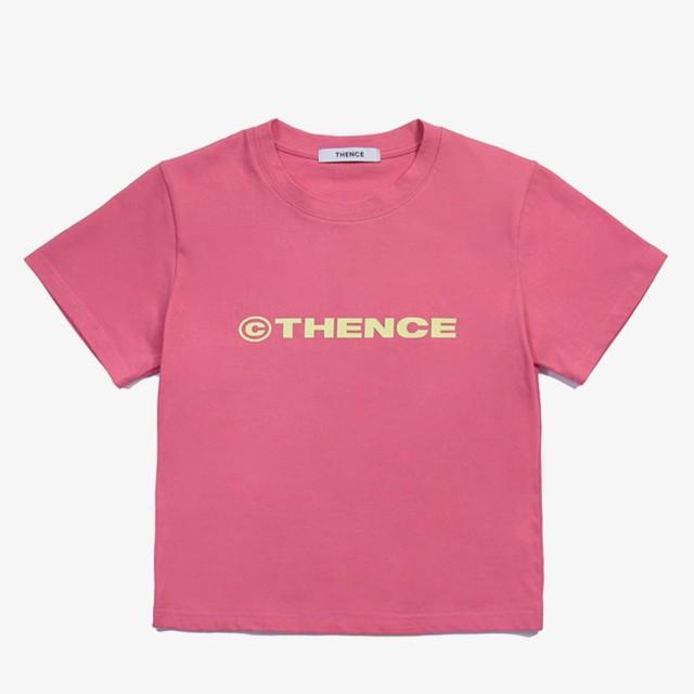 「PCC」カラー クロップド Tシャツ ピンク