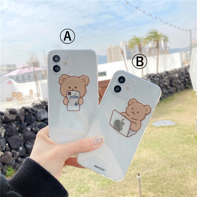Cute simple bear iphone case