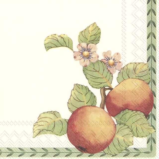 【Villeroy&Boch】バラ売り2枚 ランチサイズ ペーパーナプキン NEW FRENCH GARDEN グリーン