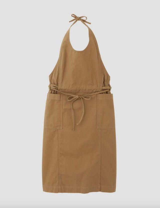 Apron onepiece Brown / lelill