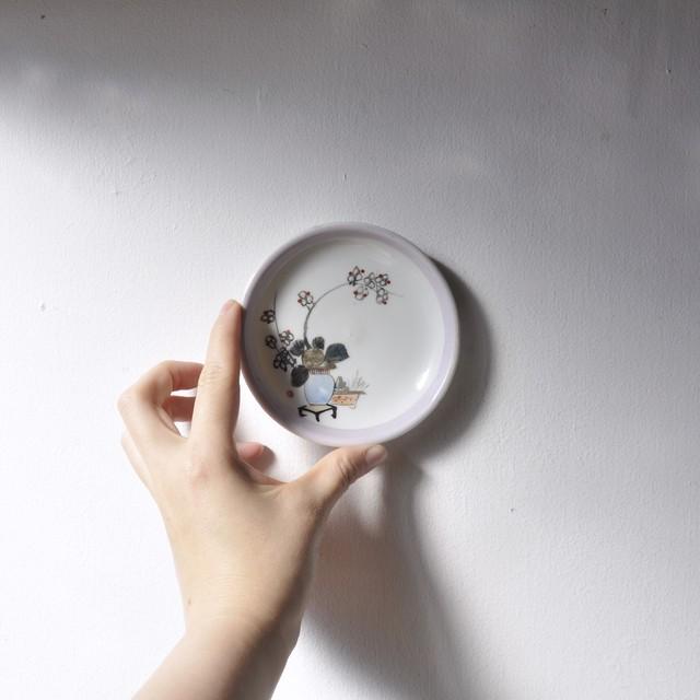 【生け花・手塩皿】梅 華道 花柄 明治時代 アンティーク