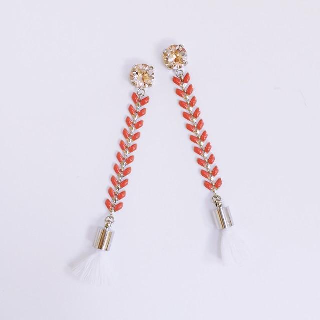 Leafchain×tassel P/E(coral PINK)