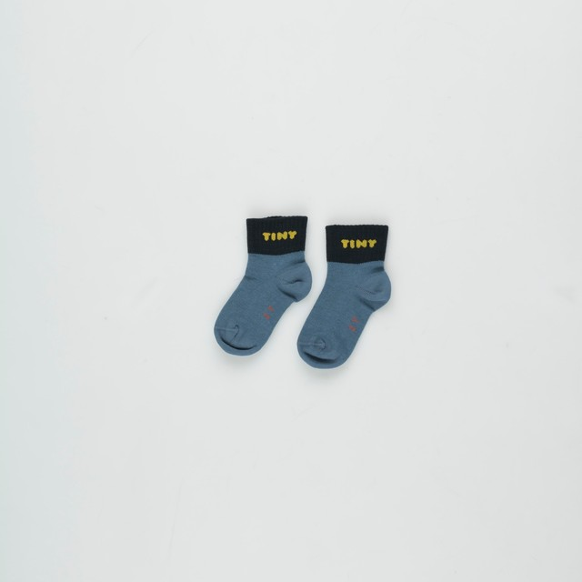 《TINYCOTTONS 2020AW》TINY QUARTER SOCKS / sea blue × navy / 6M
