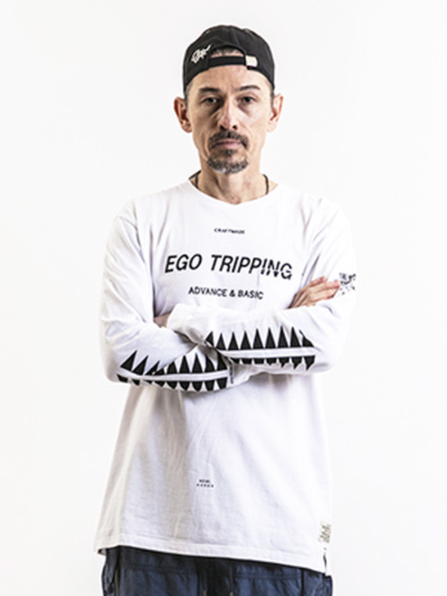 EGO TRIPPING (エゴトリッピング) SPINE TEE / WHITE   663201-00