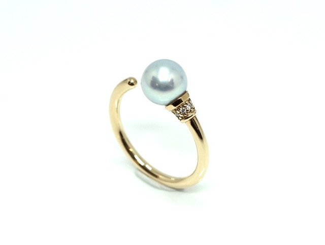Torch ring Pearl - gray