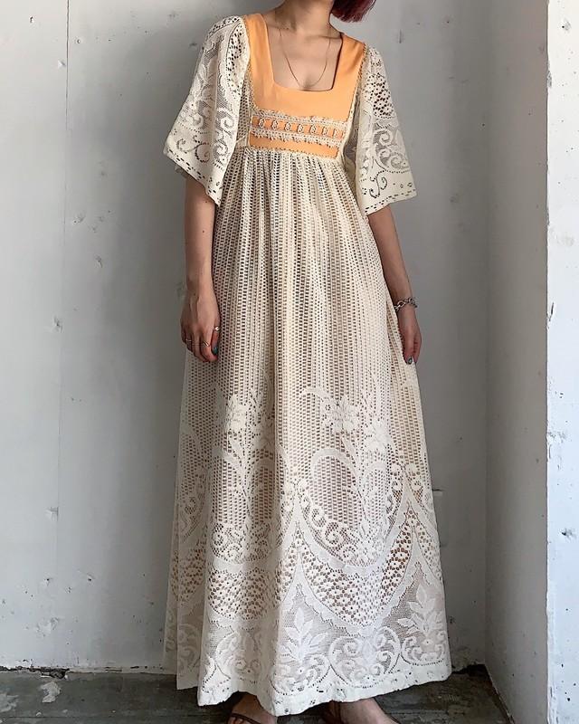 """ joy stevens "" vintage lace dress"