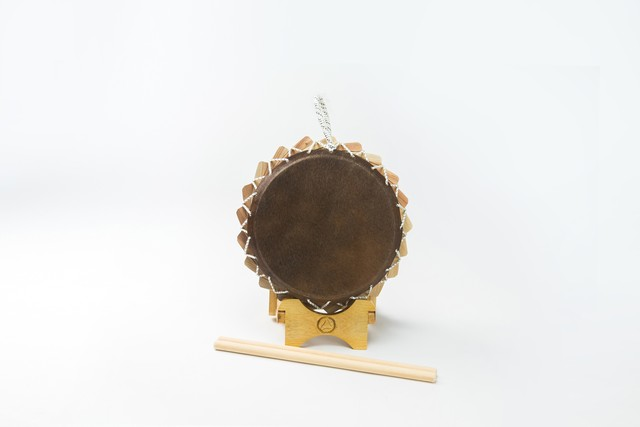 ちぢん 闘牛太鼓「馬皮」9.5寸