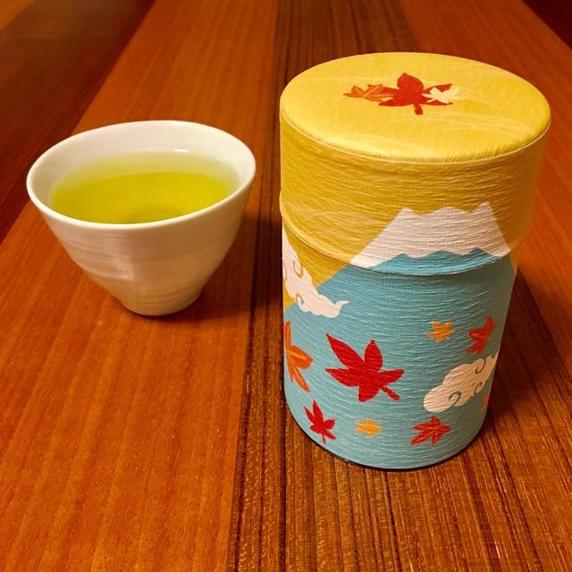 100g和紙缶 秋富士