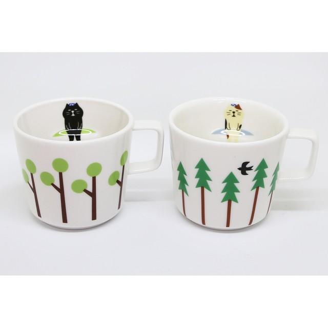 猫マグカップ(ニャンコ露天風呂マグ)