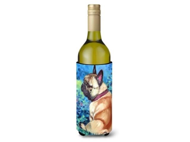 ワインボトルカバー(お花にかこまれたフレンチブルドッグ)