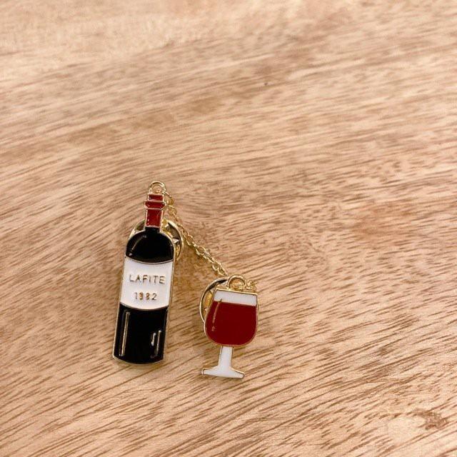 TOPANGA Accessory LOVEワインブローチ