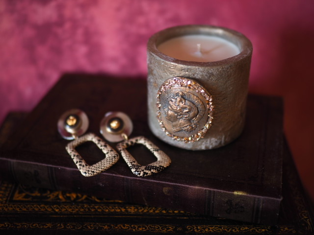 Vintage candle & earclip (collaboration set 6)