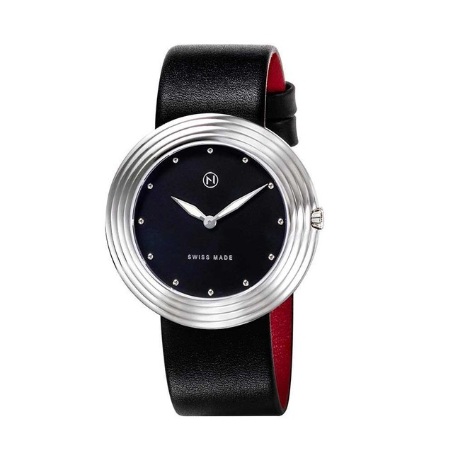B001-01 Nove ストリームライナー スイス製 腕時計 Women  Black Silver