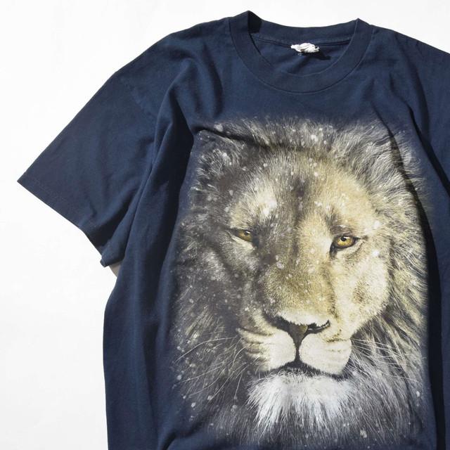 【XLサイズ】Big Lion ビッグライオン TEE 半袖Tシャツ BLK ブラック XL 400601191002