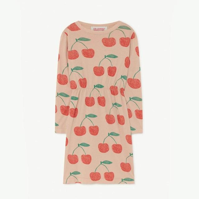 THE ANIMALS OBSERVATORY / TAO / Soft Pink Cherries Crab Dress