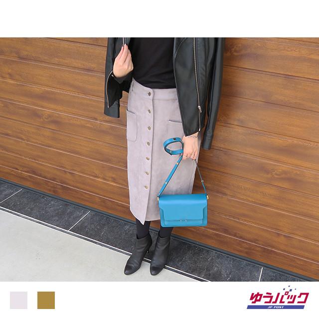 フロントボタンタイトスカート|J07023