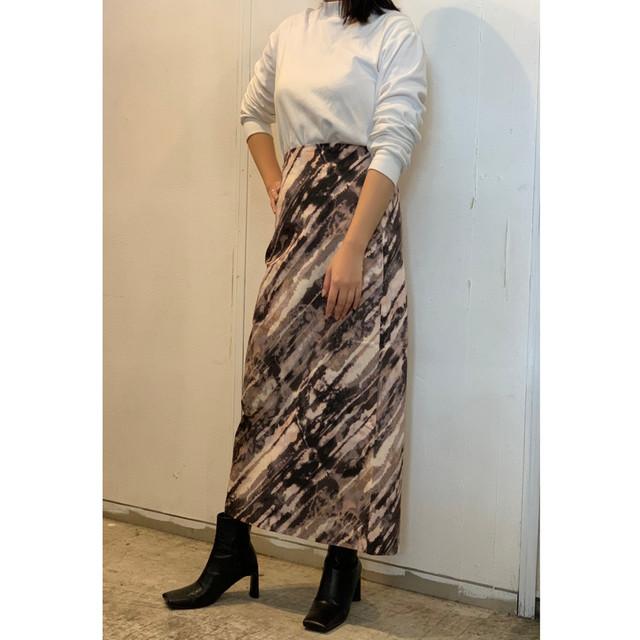 ZURI・ブラッシュロングスカート(0W45005H)
