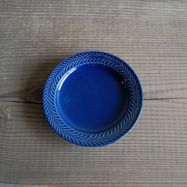 感器工房 波佐見焼 翔芳窯 ローズマリー リムプレート 皿 17.5cm ブルー 332730