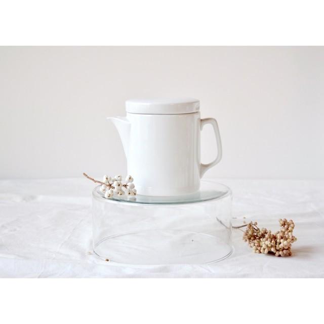 【白磁のティーポット】[0.8L]デッドストック 茶器 急須