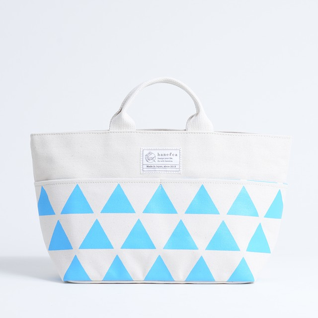 picnic tote/sky x stripe, scale, dot ピクニックトート / 空 x 鱗・水玉