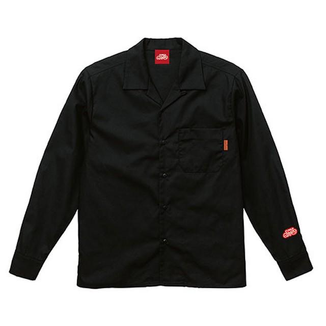 オープンカラーシャツ 長袖 / ブラック   SINE METU - シネメトゥ