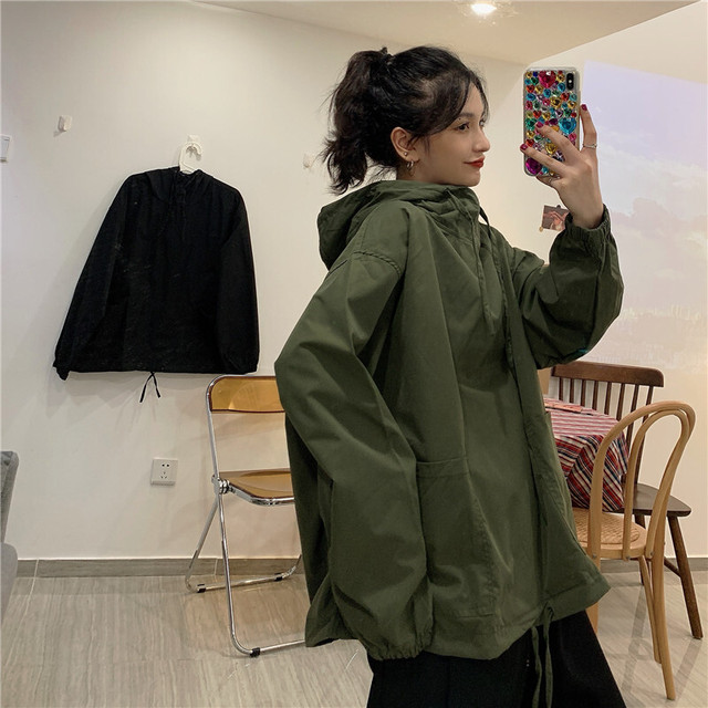 【アウター】カジュアル通勤シンプル無地ファッションフード付きジャケット40924787