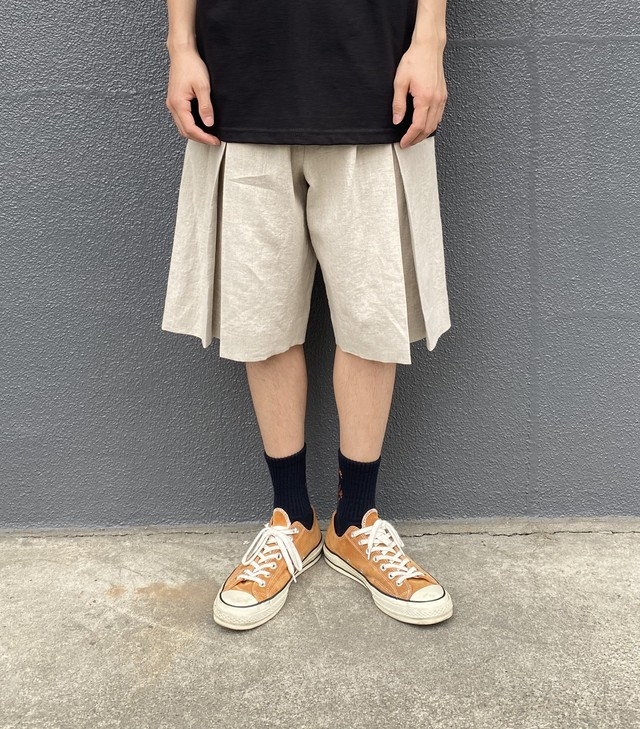 TODAY edition / LINEN EASY SHORTS(BEIGE)