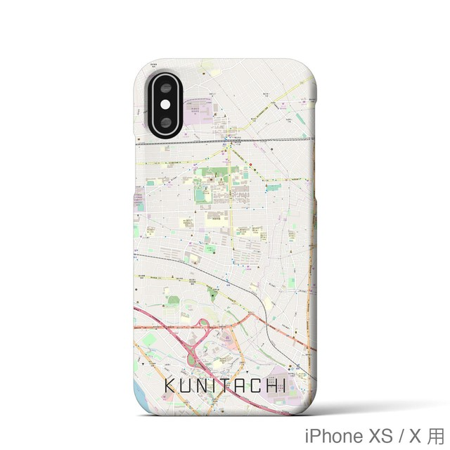 【国立】地図柄iPhoneケース(バックカバータイプ・ナチュラル)