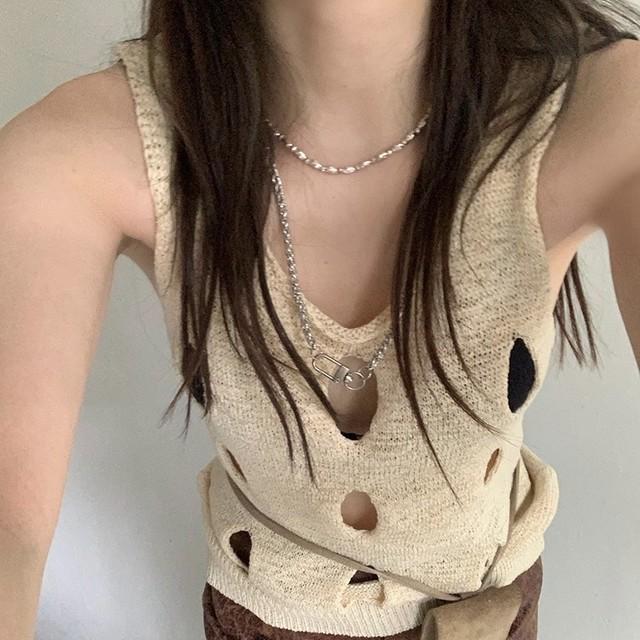 honeycomb knit vest 2c's