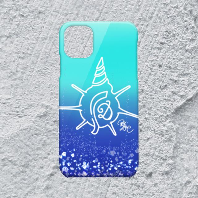 【iPhone11対応】D-Logoアクアマリンハードケース*鮮やか×かわいい/青/水色/海}