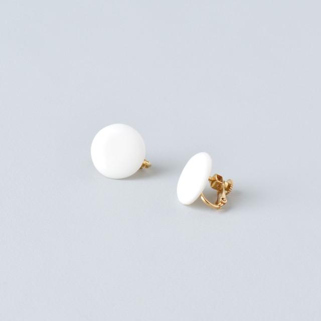 HatoKumo / 白磁のつぶ+サークル・ピアス