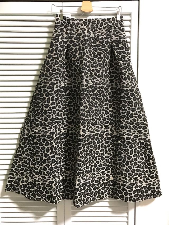 レオパード柄ジャガードロングスカート